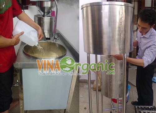 Máy làm sữa bắp VinaOrganic
