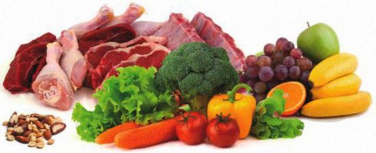 Thịt cá rau quả