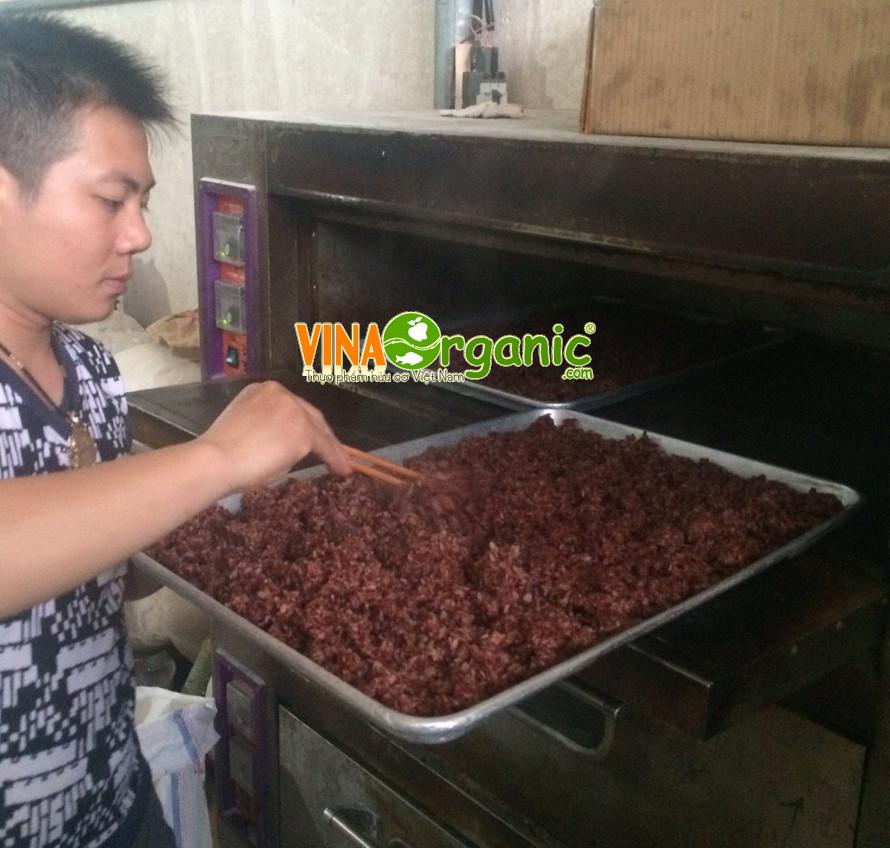 Công nghệ sản xuất Bánh gạo lứt chà bông VinaOrganic
