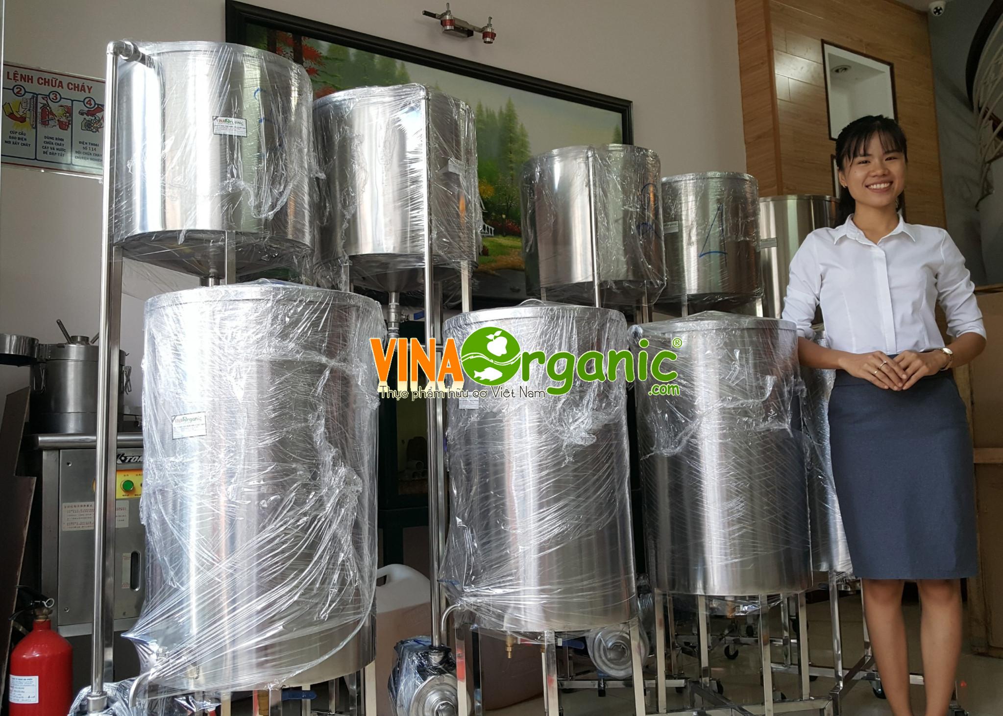 Thiết bị thanh trùng, làm lạnh nhanh sữa và nước giải khát VinaOrganic