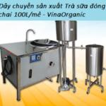 dây chuyền sản xuất trà sữa đóng chai