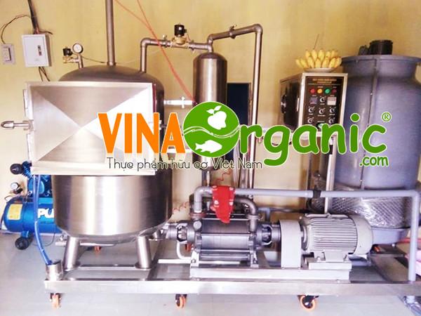 Quy trình sản xuất Chuối sấy giòn VinaOrganic