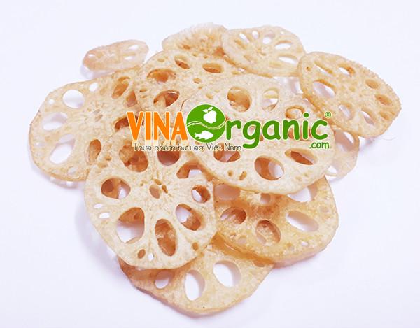 Công nghệ sản xuất Snack củ sen giòn tan, thơm ngon của VinaOrganic